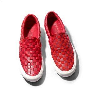 Engineered Garments x Vans Red Checkerboard Slip